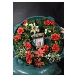 Rubbermaid Christmas Wreath Containers and Wreath