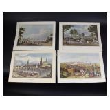 Antique Prints - Engraved & Colored Lithographs