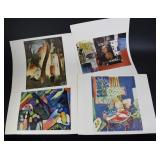 Impressionist x 4 Lithographs, Signed to Print