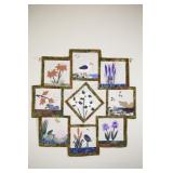 Hand Crafted Trillium Patch Quilt Wall Hanging