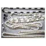 Fresh Water Pearl & Beaded Necklace & Earring Set