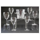 Glass Champagne Bucket & Stemware