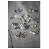 Costume Jewelry Necklace, Earrings & Brooches