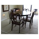 Gibbard Craftsman Cherry Dining Table & Six Chairs