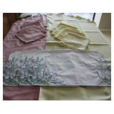 Yellow, Pink Table Linen & Matching Napkins
