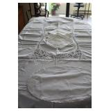Battenburg Lace Table Cloth, Napkins & Placemats