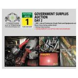 Government Surplus Auction Day 2 Online Only