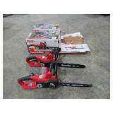 """(qty - 2) Homelite 14"""" Electric Chainsaws-"""