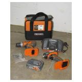 (2) Ridgid Cordless Drill Set-