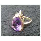 14 Kt Gold Amethyst Cluster Ring w/ Appraisal-