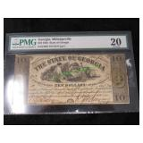 1864 State of Georgia Midgeville Currency-