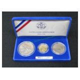 1987 US Liberty 3 Coin Set-
