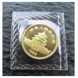 1985 China Panda 1/20 oz .999 Gold Coin-