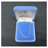 18K Yellow Gold Chain Necklace-