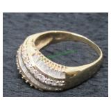 14kt Gold and Diamond Ladies Ring