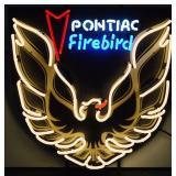 *New* Pontiac Firebird Neon Sign w/ Backing