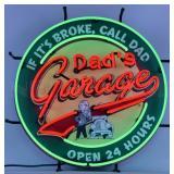 """*New* """"Dads Garage"""" Neon Sign-"""