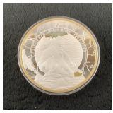 American Gold Rush Large Collectible Silver Coin-