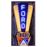 """""""NEW"""" Ford Jubilee Neon Sign in Steel Can-"""