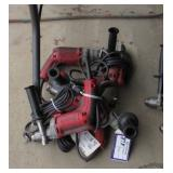 "(5) Milwaukee 3/8"" Drills"