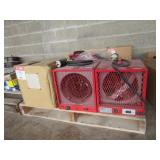 (3) Uline Electric Heaters H-5184