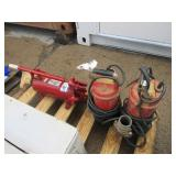 Submersible Pumps and Hand Pump