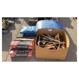 Tarp and Metal Wire Brushes