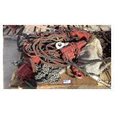 (3) JDN 1 Ton Pneumatic Chain Hoists