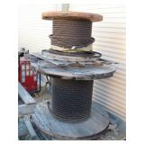(2) Spools of Braided Steel Cable