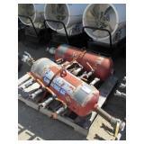 (2) Texas Pneumatic Spider Air Tanks