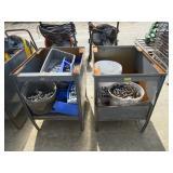 (2) Metal Storage Bins and Contents