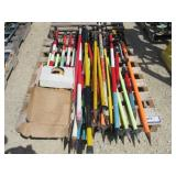 (25) Assorted Survey Stakes