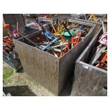 Crate of Assorted Pipe Stands