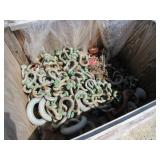 Crate of Shackles and Chain Hoists