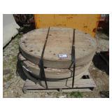 (4) Round Wooden Pads