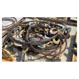 (5) QC21 Braided Steel Rigging Slings w/ Hooks