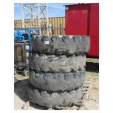 (4) Forklift Wheels w/ Tires