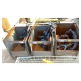 Metal Storage Bins and Pipe Cutters