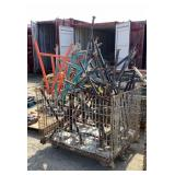 Basket of Assorted Pipe Roller Stands