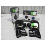 Gloves, Stability Ball, Speed Bag-