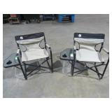 (qty - 2) Coleman Folding Chair w/ Side Table-
