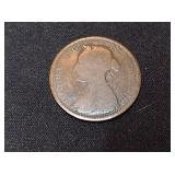 Victoria Half Penny Coin- United Kingdom