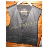 "Mossi Black ""Leather"" Western Vest"