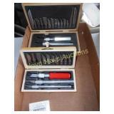 2pc Exacto Knife Sets & New Blades