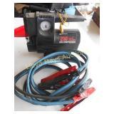 12V Mini Air Compressor & Jumper Cables