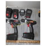 2pc Drill Master 18V Cordless Drills & Accs