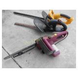 3pc - Hedge Trimmer / Chain Saw / 18V Clipper