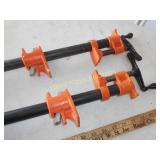 """Pair of 30"""" Steel Pipe Clamps"""