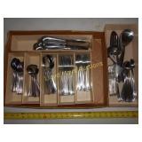 Stainless Flat Ware Set w/ Drawer Organizer