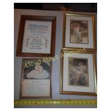 4pc Framed Sampler & Art Prints